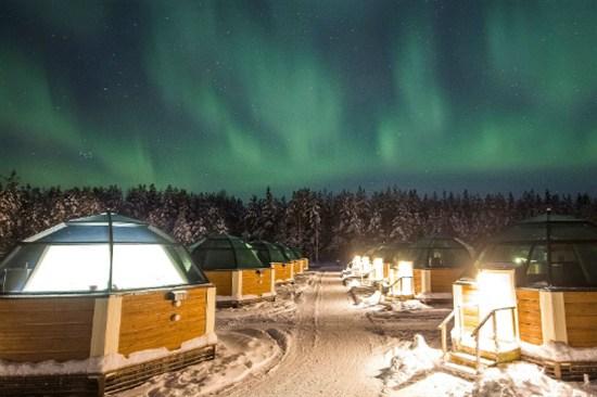 Arctic Snow Glass Igloos Hotel
