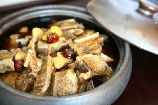韓式炆牛骨+竹筒飯定食