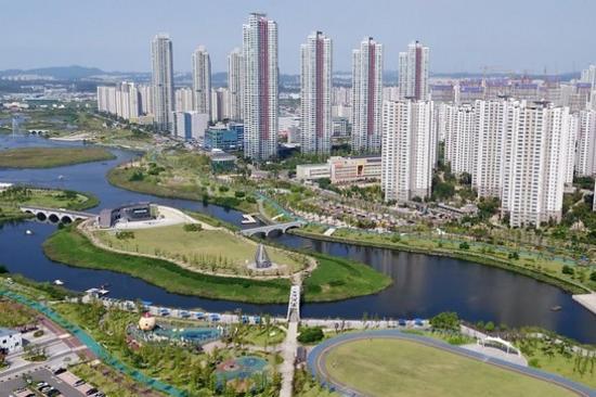 仁川威尼斯水鄉:青羅湖水公園