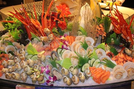酒店豪華豐盛海鮮自助餐