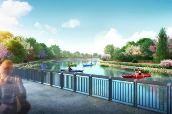 2018台中世界花卉博覽會~豐原葫蘆墩公園湖景平台之模擬圖
