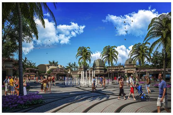 Atlantis Sanya Hote-水族館入口